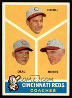 Cincinnati Reds Coaches (Reggie Otero, Cot Deal, Wally Moses) [EX MT]