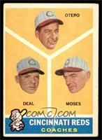 Cincinnati Reds Coaches (Reggie Otero, Cot Deal, Wally Moses) [VG]