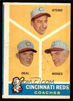 Cincinnati Reds Coaches (Reggie Otero, Cot Deal, Wally Moses) [GOOD]