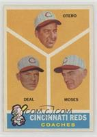 Cincinnati Reds Coaches (Reggie Otero, Cot Deal, Wally Moses)