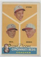 Cincinnati Reds Coaches (Reggie Otero, Cot Deal, Wally Moses) [Good to&nbs…
