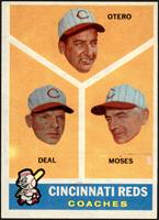 Cincinnati Reds Coaches (Reggie Otero, Cot Deal, Wally Moses) [EX]