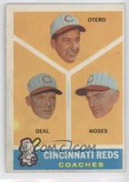 Cincinnati Reds Coaches (Reggie Otero, Cot Deal, Wally Moses) [Poor to&nbs…