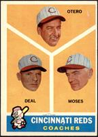 Cincinnati Reds Coaches (Reggie Otero, Cot Deal, Wally Moses) [VG EX]