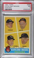 Cleveland Indians Coaches (Mel Harder, Jo-Jo White, Bob Lemon, Red Kress) [PSA&…