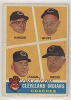 Cleveland Indians Coaches (Mel Harder, Jo-Jo White, Bob Lemon, Red Kress) [Poor]