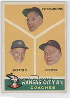 Kansas City A's Coaches (Fred Fitzsimmons, Don Heffner, Walker Cooper) [Good&nb…