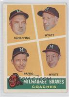 Milwaukee Braves Coaches (Bob Scheffing, Whit Wyatt, Andy Pafko, George Myatt) …