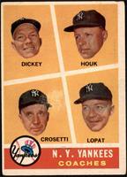 N.Y. Yankees Coaches (Bill Dickey, Ralph Houk, Frank Crosetti, Ed Lopat) [NM&nb…