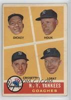 N.Y. Yankees Coaches (Bill Dickey, Ralph Houk, Frank Crosetti, Ed Lopat) [Good&…