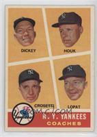 N.Y. Yankees Coaches (Bill Dickey, Ralph Houk, Frank Crosetti, Ed Lopat)