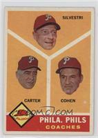 Philadelphia Phillies Coaches (Andy Cohen, Ken Silvestri, Dick Carter) [Good&nb…