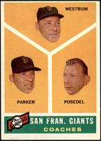 San Francisco Giants Coaches (Wes Westrum, Salty Parker, Bill Posedel) [EX …