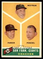 San Francisco Giants Coaches (Wes Westrum, Salty Parker, Bill Posedel) [EX]