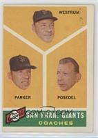 San Francisco Giants Coaches (Wes Westrum, Salty Parker, Bill Posedel)