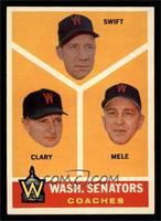 Washington Senators Coaches (Bob Swift, Ellis Clary, Sam Mele) [EXMT]