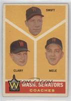 Washington Senators Coaches (Bob Swift, Ellis Clary, Sam Mele) [Goodto&nb…