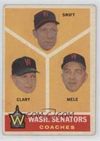 Washington Senators Coaches (Bob Swift, Ellis Clary, Sam Mele) [Poor]