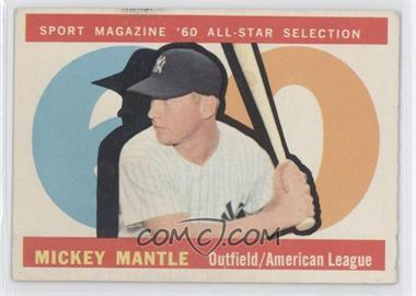 1960 Topps - [Base] #563 - Mickey Mantle