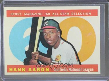 1960 Topps - [Base] #566 - Hank Aaron