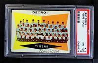 Checklist, Detroit Tigers Team [PSA8NM‑MT]