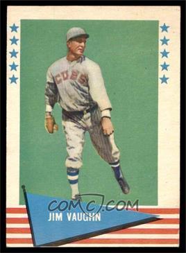 1961 Fleer Baseball Greats - [Base] #82 - Jim Vaughn [EX]