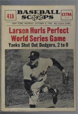 1961 Nu Cards Baseball Scoops Base 418 Don Larsen
