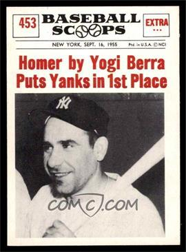 1961 Nu-Cards Baseball Scoops - [Base] #453 - Yogi Berra [EX MT]