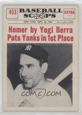1961 Nu Cards Baseball Scoops Base 453 Yogi Berra