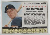 Bill Mazeroski (Hand Cut) [Good to VG‑EX]
