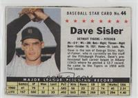 Dave Sisler [Noted]