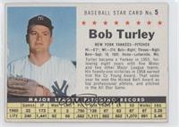 Bob Turley (Hand Cut) [GoodtoVG‑EX]