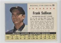 Frank Sullivan (Perforated, Traded from Boston Red Sox, AL in 1960.)