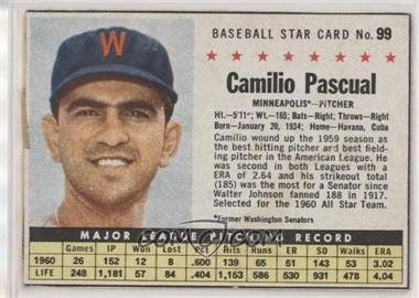 1961 Post - [Base] #99.1 - Camilo Pascual (Hand Cut, Minneapolis) [Poor to Fair]