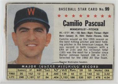 1961 Post - [Base] #99.1 - Camilo Pascual (Hand Cut, Minneapolis) [Poor]