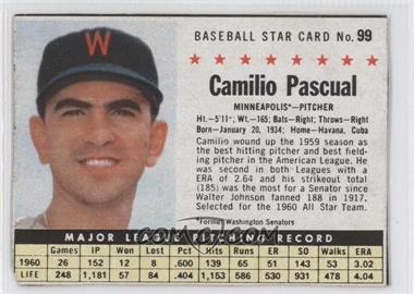 1961 Post - [Base] #99.1 - Camilo Pascual (Hand Cut, Minneapolis)