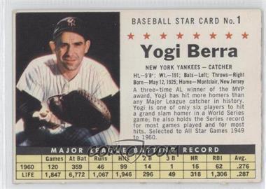 1961 Post Cereal - [Base] #1.2 - Yogi Berra (Perforated)