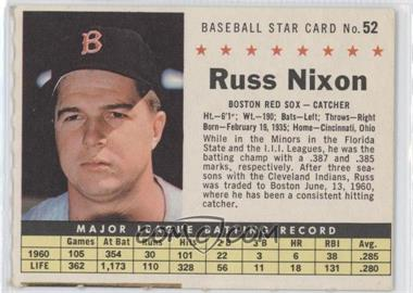 1961 Post Cereal - [Base] #52.2 - Russ Nixon (Perforated)