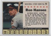 Ron Hansen (Hand Cut)