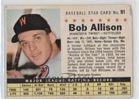 Bob Allison (Perforated, Minnesota Twins) [Poor]