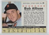 Bob Allison (Perforated, Minnesota Twins)