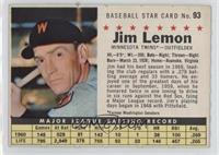 Jim Lemon (Perforated, Minnesota Twins)