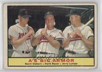 A's Big Armor (Norm Siebern, Hank Bauer, Jerry Lumpe) [PoortoFair]