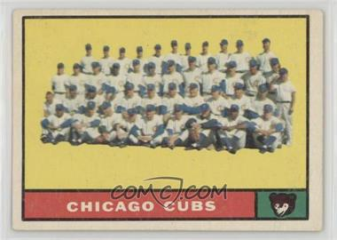 1961 Topps - [Base] #122 - Chicago Cubs Team