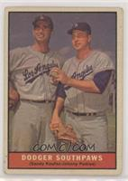 Dodger Southpaws (Sandy Koufax, Johnny Podres) [Good to VG‑EX]