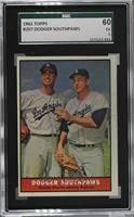 Sandy Koufax, Johnny Podres [SGC 60 EX 5]