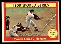 1960 World Series Game #2 - Mantle Slams 2 Homers [EX]
