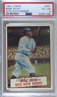 Baseball Thrills: Babe Ruth Hits 60th Homer [PSA4VG‑EX]