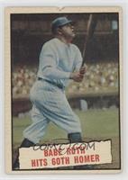 Baseball Thrills: Babe Ruth Hits 60th Homer [Poor]