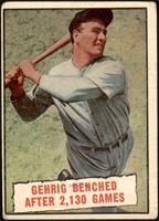 Baseball Thrills: Gehrig Benched After 2,130 Games (Lou Gehrig) [POOR]